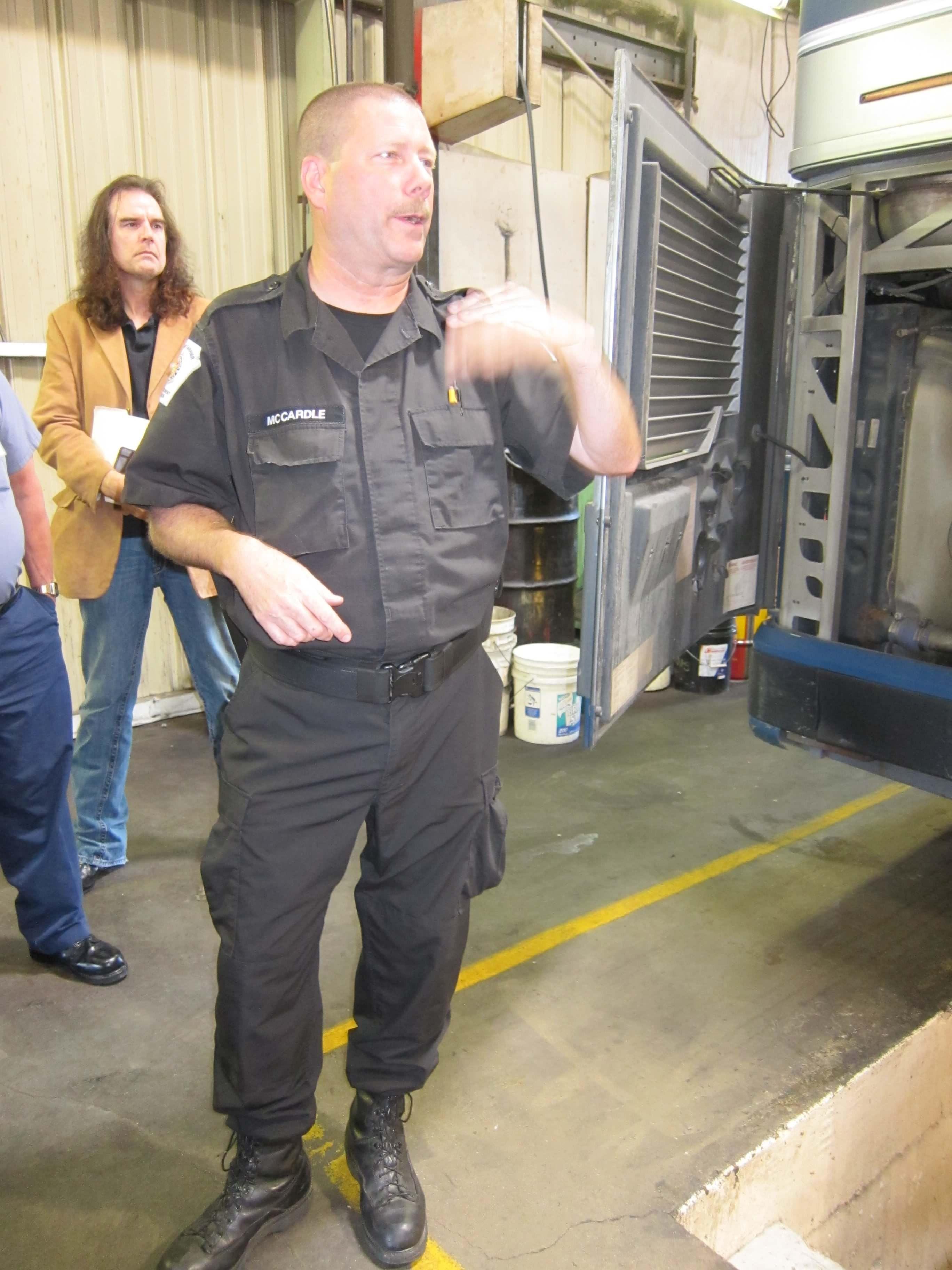 Trooper at Garage