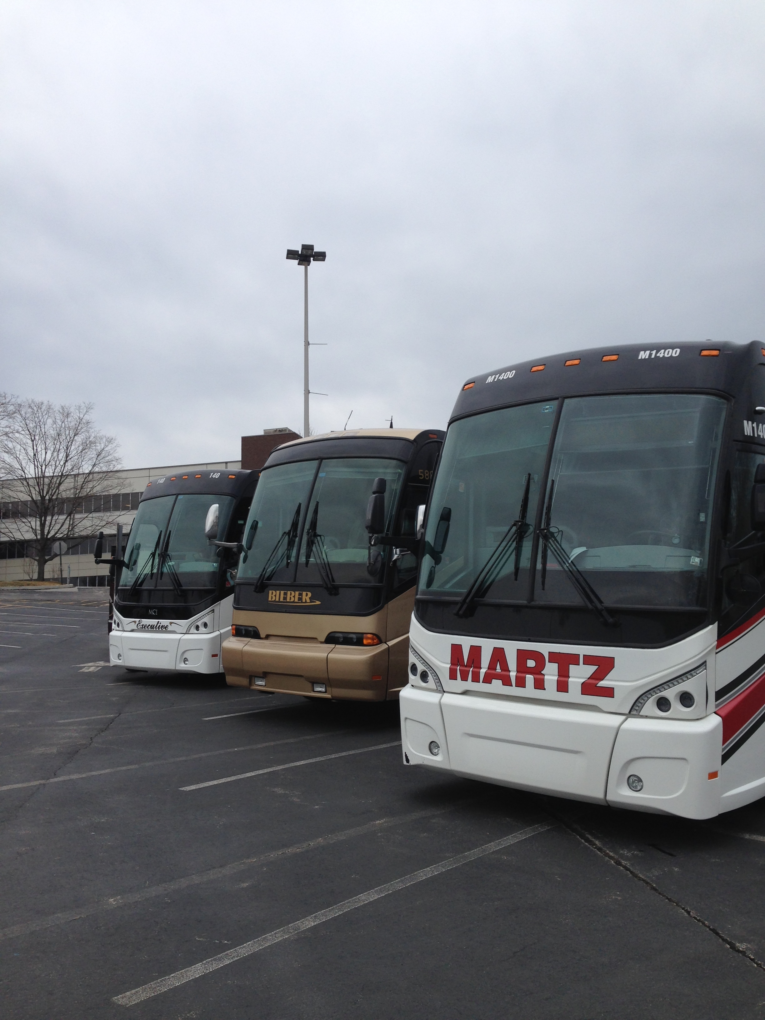 A few of the bus companies in attendance